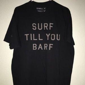 Mens XL Oneill T shirt Black